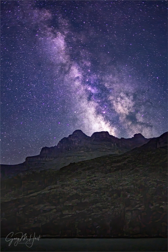 Gary Hart Photography: Milky Way, Grand Canyon (Tyndall Dome, Wallace Butte, Mt. Huethawali)