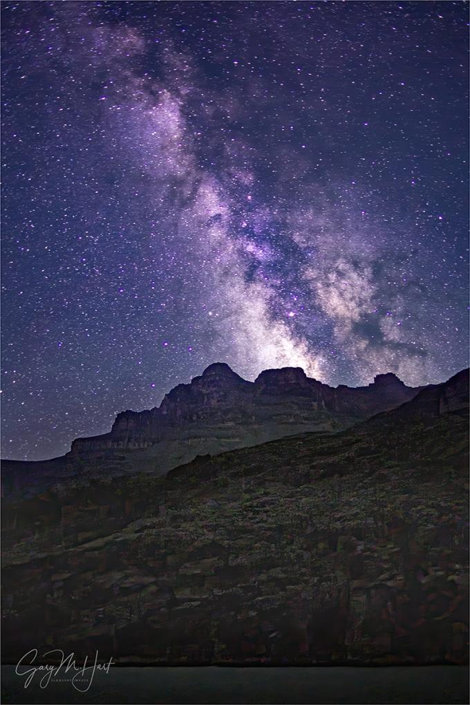 Gary Hart Photography: Milky Way, Grand Canyon (Tyndall Dome, Wallace Butte, Mt. Huethawali)