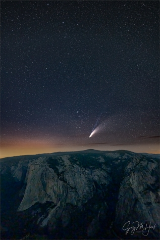 Gary Hart Photography: Comet NEOWISE and the Big Dipper Over El Capitan, Taft Point, Yosemite
