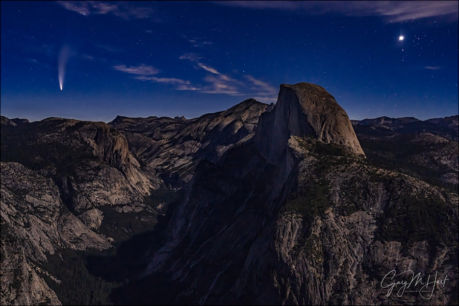 Gary Hart Photography: Comet Neowise and Venus, Half Dome from Glacier Point, Yosemite