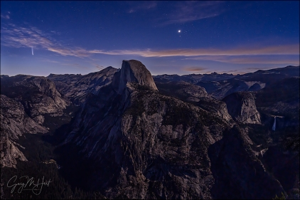Gary Hart Photography: Comet Rising, Half Dome and Comet NEOWISE, Glacier Point, Yosemite