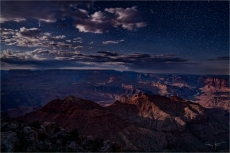 Gary Hart Photography: Comet NEOWISE in the Clouds, Navajo Point, Grand Canyon