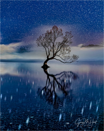 Gary Hart Photo: Starry Night, Lake Wanaka, New Zealand