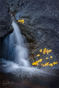 Gary Hart Photography: Autumn Cascade, Bridalveil Creek, Yosemite
