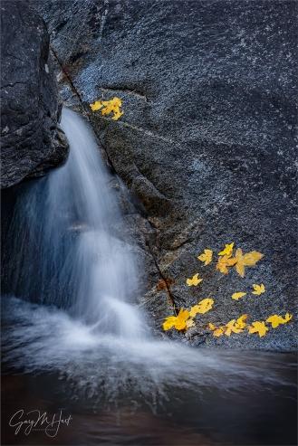 Gary Hart Photography: Autumn Cascade, Bridalveil Creek, Yosemite