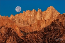 Gary Hart Photography: Farewell Moon, Mt. Whitney, California