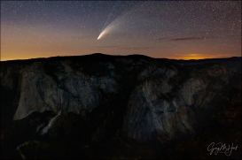 Gary Hart Photography: Comet NEWOSIE, El Capitan from Taft Point, Yosemite