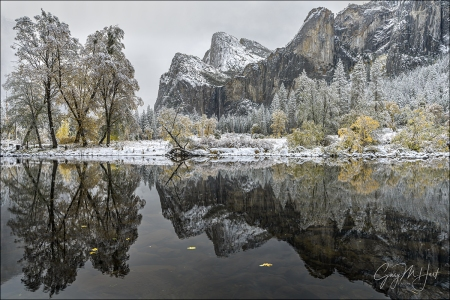 Gary Hart Photography: Fall Into Winter, Bridalveil Fall Reflection, Yosemite