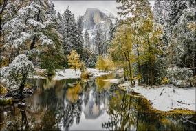 Gary Hart Photography: White Gold, Half Dome Reflection, Yosemite