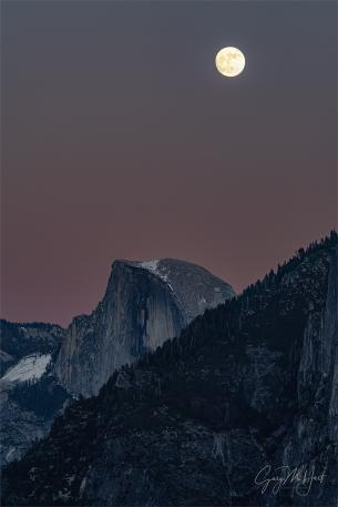 Gary Hart Photography: Twilight Moonrise, Half Dome, Yosemite