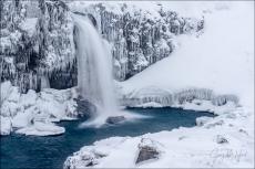 Gary Hart Photography: Frozen, Kirkjufellsfoss, Iceland