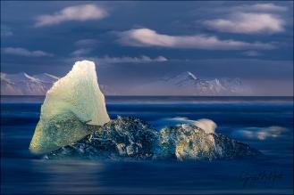Gary Hart Photography: Blue Hour, Diamond Beach, Iceland