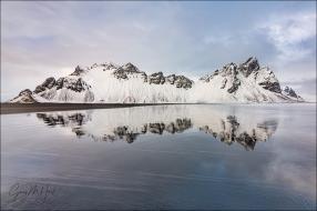 Gary Hart Photography: Vestrahorn Reflection, Stokksnes Beach, Iceland
