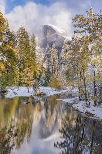 Gary Hart Photography: Clearing Storm, Half Dome Reflection from Sentinel Bridge, Yosemite
