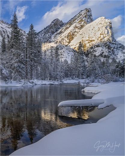 Gary Hart Photography: Fresh Snow, Three Brothers, Yosemite