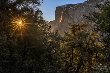 Gary Hart Photography: Sunstar, Horsetail Fall and El Capitan, Yosemite