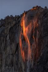 Gary Hart Photography: Windswept, Horsetail Fall, Yosemite