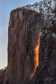 Gary Hart Photography: Horsetail Fall and El Capitan, Four Mile Trail, Yosemite