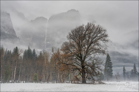 Gary Hart Photography: Winter Storm, Upper Yosemite Fall, Yosemite
