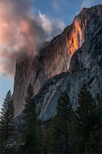Gary Hart Photography: Sun Kissed, Horsetail Fall, Yosemite