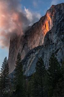 Gary Hart Photography: Sun Kissed, Horsetail Fall, Yosemite