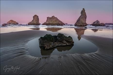 Gary Hart Photography: Morning Reflection, Bandon, Oregon