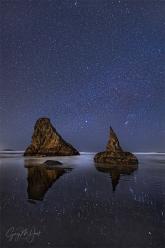 Gary Hart Photography: Starlight Reflection, Wizard Hat, Bandon, Oregon