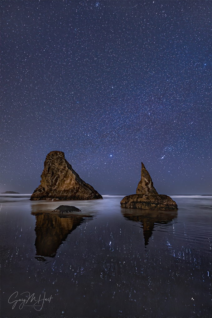 Gary Hart Photography: Starlight Reflection, Wizard's Hat, Bandon, Oregon