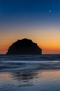 Gary Hart Photography: Moongazing, Face Rock, Bandon, Oregon