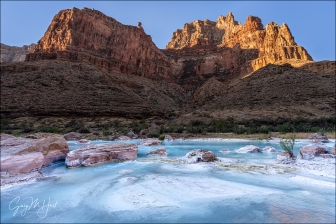Gary Hart Photography: Red, White, and Blue; Little Colorado River Confluence; Grand Canyon