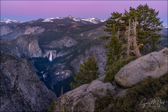 Gary Hart Photography: Alpenglow, Nevada and Vernal Falls from Glacier Point, Yosemite