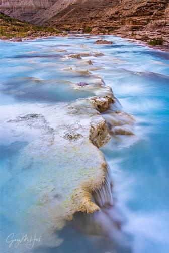 Gary Hart Photography: Limestone Cascades, Little Colorado River, Grand Canyon