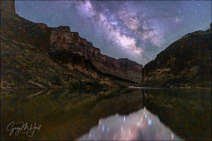 Gary Hart Photography: Dark Night, Milky Way Reflection, Grand Canyon