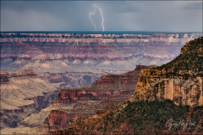 Gary Hart Photography: Hand of God, Forked Lightning, Grand Canyon