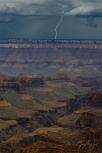 Gary Hart Photography: Cloud-Piercing Lightning, North Rim, Grand Canyon