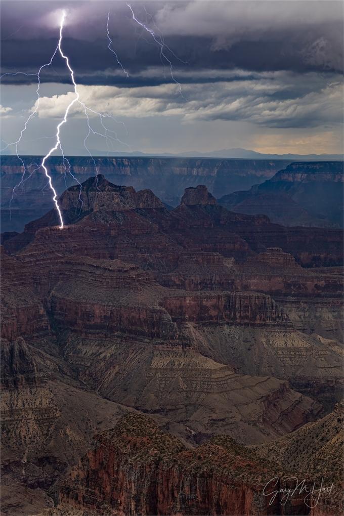 Gary Hart Photography: Lightning Strike, Brahma Temple, Grand Canyon