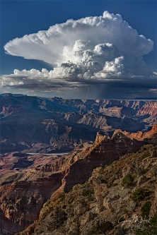 Gary Hart Photography: Thunderhead and Lightning, Lipan Point, Grand Canyon