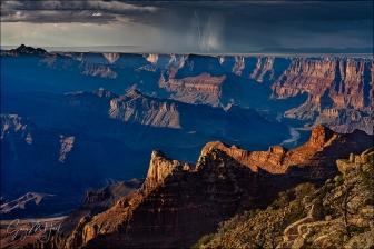 Gary Hart Photography: Parallel Lightning, Lipan Point, Grand Canyon