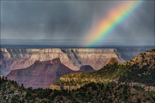 Gary Hart Photography: Morning Rainbow, North Rim, Grand Canyon