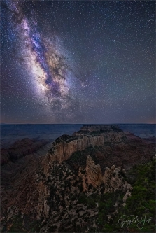 Gary Hart Photography: Milky Way and Wotan's Throne, Cape Royal, Grand Canyon