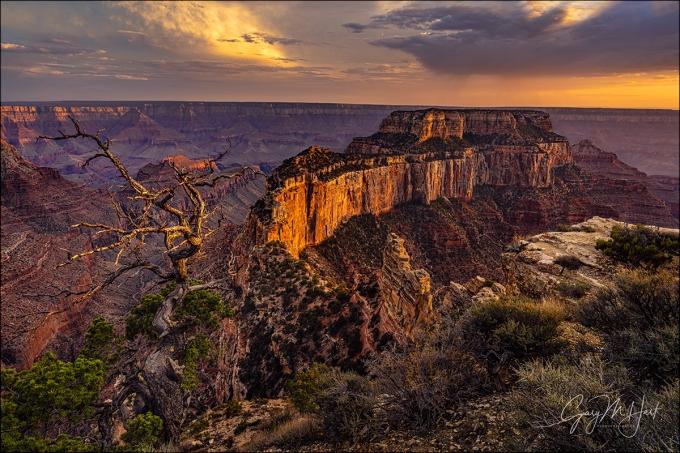 Gary Hart Photography: Last Light, Wotan's Throne, Cape Royal, Grand Canyon