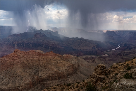 Gary Hart Photography: Downpour and Lightning, Desert View, Grand Canyon