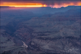 Gary Hart Photography: Sunset Shroud, Lipan Point, Grand Canyon