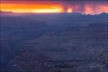 Gary Hart Photography: Veiled Sunset, Lipan Point, Grand Canyon