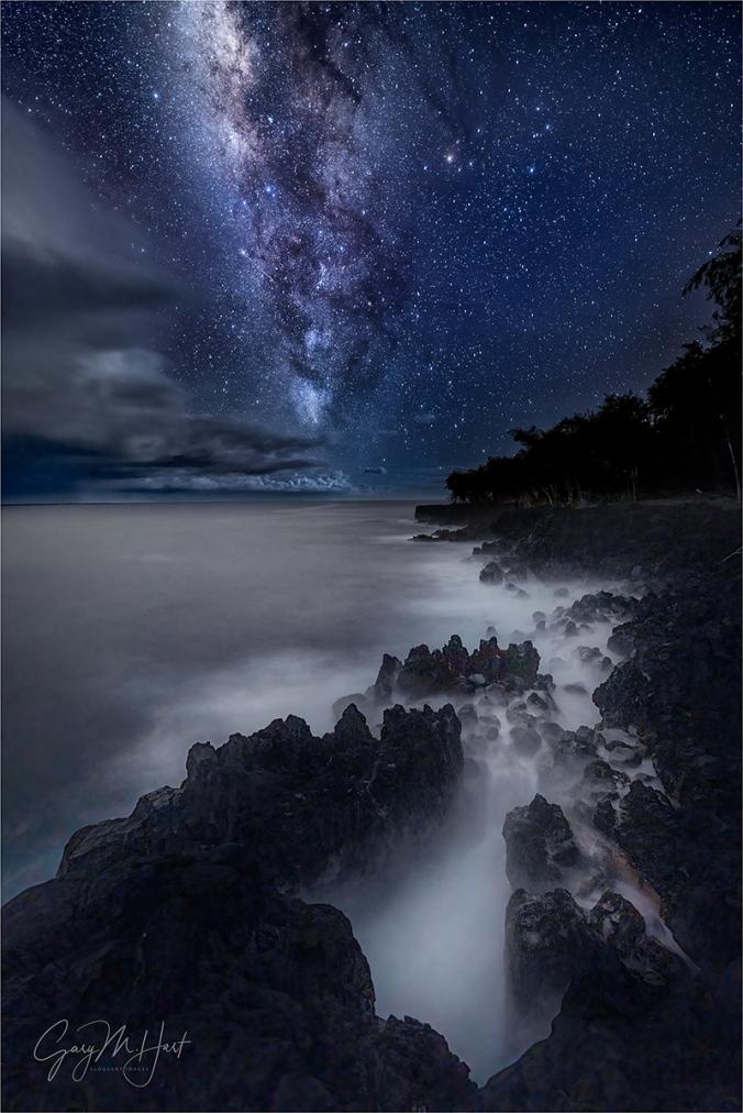 Gary Hart Photography: Heaven and Earth, Milky Way Over the Puna Coast, Hawaii