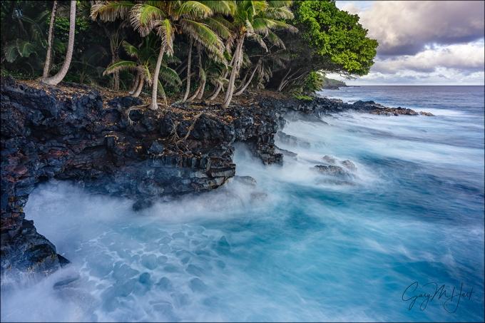 Gary Hart Photography: Surf on the Rocks, Puna Coast, Hawaii