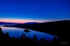 Gary Hart Photography: Rising Crescent, Emerald Bay, Lake Tahoe